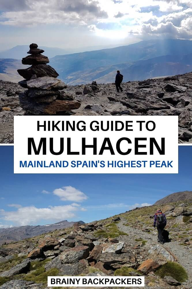 Are you planning to hike Mulhacen, the highest peak in mainland Spain? Here is your complete Mulhacen hiking guide with everything you need to know. #hiking #hike #responsibletourism #outdoors #activity #brainybackpackers #europe #spain #andalucia #andalusia #southernspain #dayhike