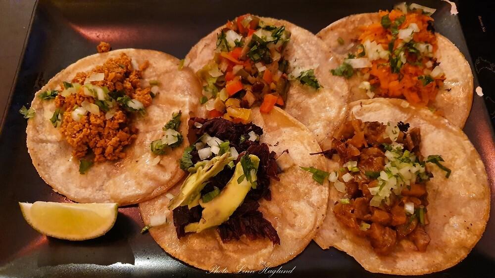 Vegan tacos at Piensa En Mi Taqueria Mexicana