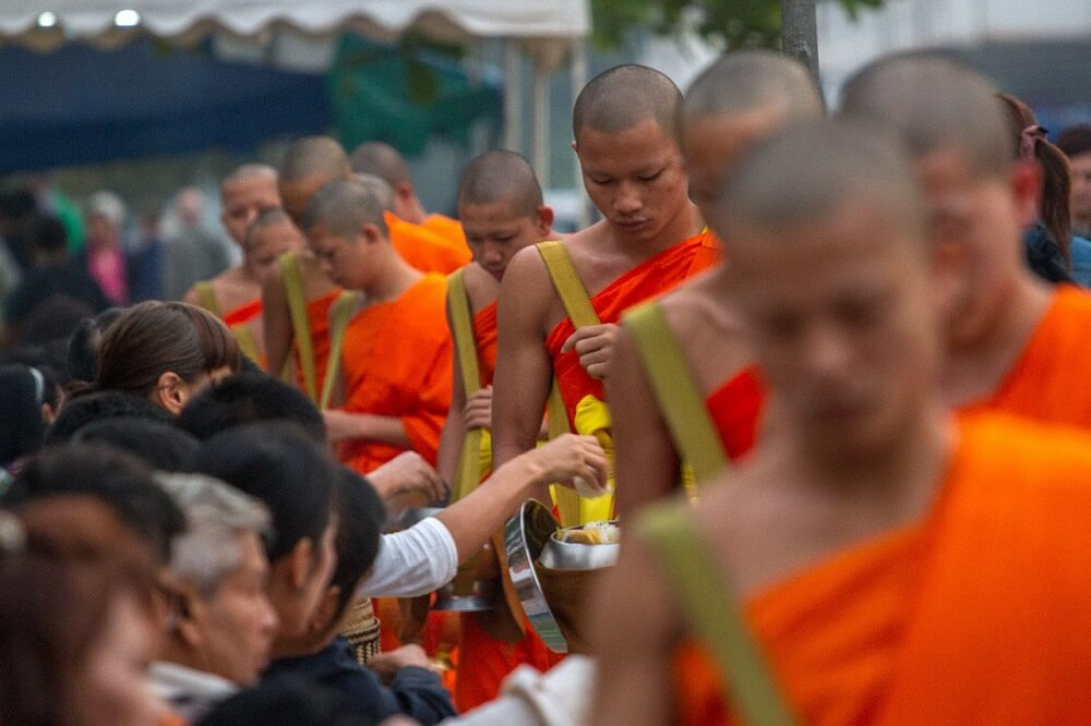 Luang Prabang alms giving ceremony is a Southeast Asia bucket list experience