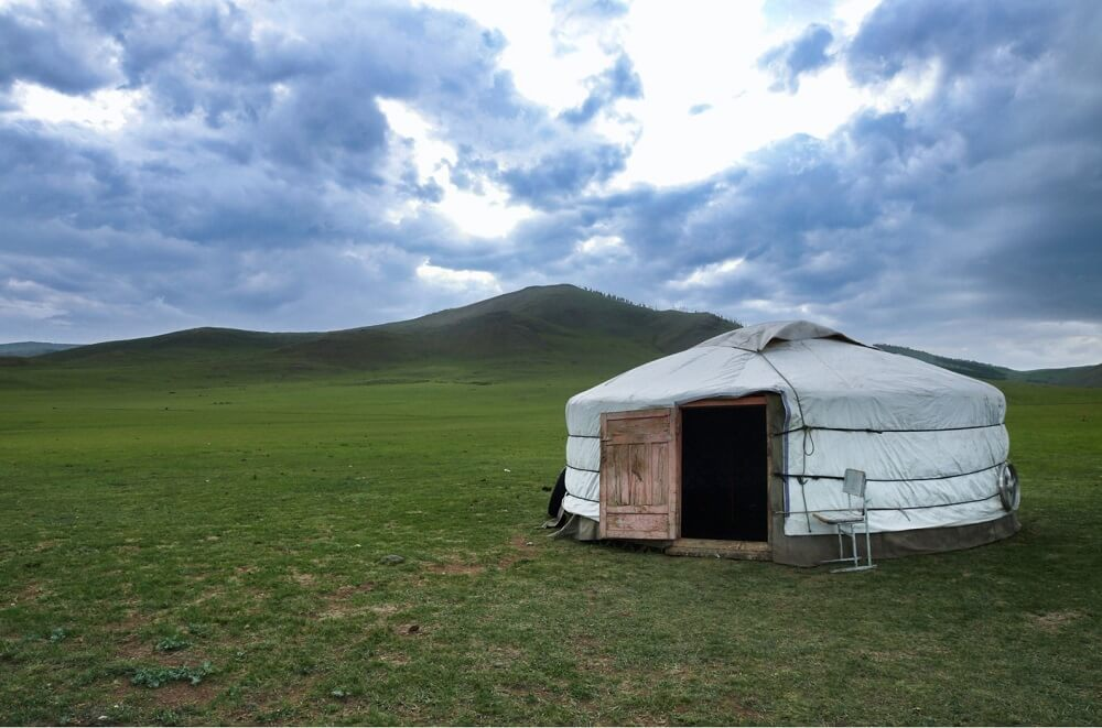 Nomad house in Mongolia
