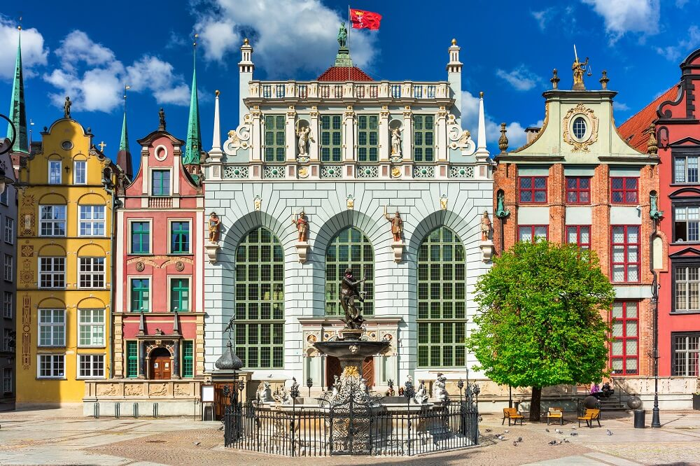 Artus Court and Neptunes fountain are some of the best places to visit in Gdansk