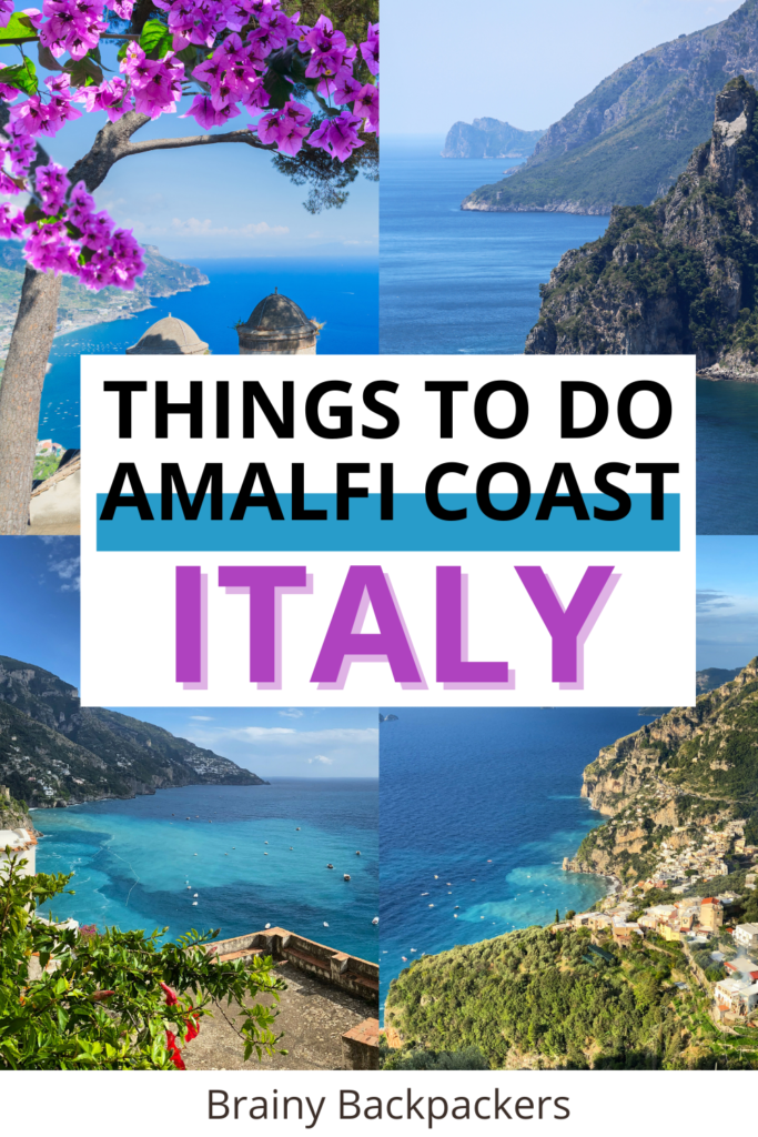 Planning a trip to the beautiful Amalfi Coast Italy? This post covers everything you need to know to have a successful vacation in the Amalfi Coast  including things to do in Amalfi Coast and how to explore Capri. #beautifulplaces #italy