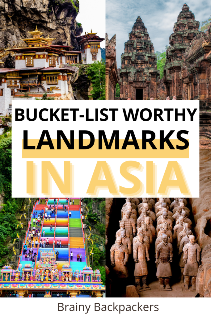 Planning a trip to Asia and not sure where to start? Here are some of the prettiest and most incredible landmarks in Asia from the Middle East landmarks to Southeast Asia in the east. Manmade landmarks and natural landmarks you have to see to believe they're for real.