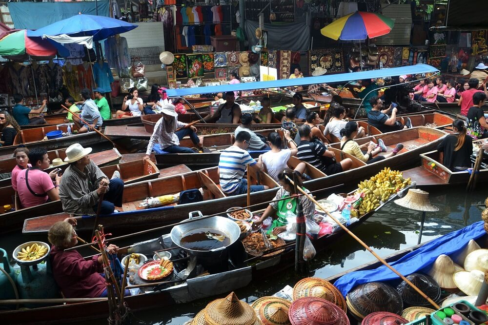 Things to do in Bangkok - go to a floating market